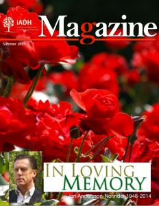 iADH magazine summer 2015 frontpage